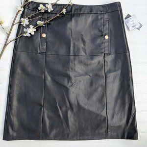 Liz Claiborne Black Leather Skirt